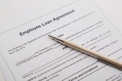 Employee loan agreement Royalty Free Stock Images
