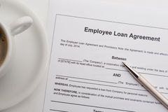Employee loan agreement Stock Photography