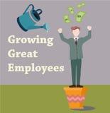 Employee makes money Stock Photography