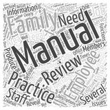 The Employee Manual in Family PraThe Employee Manual in Family Practice word cloud concept backctice word cloud concept background Royalty Free Stock Photography