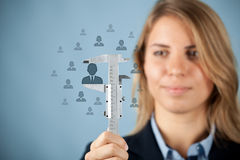 Employee merit success growth Stock Photos