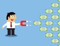 Employee money magnet Stock Photo