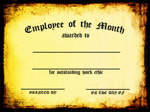 Employee of the Month. Customizable / Blank Certificate - Employee of the Month vector illustration