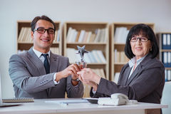 The employee of the month award Stock Images