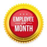 Employee of the month award badge. Vector Stock Photos