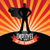 Employee of the Month burst. EPS 10 vector royalty free stock illustration Stock Images