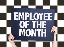 Employee of the Month card on checkered background. Employee of the Month card isolated on white Royalty Free Stock Image