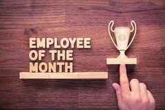 Employee of the month. And human resources concepts Royalty Free Stock Photo