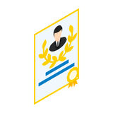 Employee of the month icon, isometric 3d style Stock Images