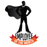 Employee of the month male isolated on white. EPS 10 vector royalty free stock illustration perfect for promotion, ads, marketing, poster, motivation, awards Royalty Free Stock Photo