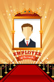 Employee of the Month Poster Frame. A vector illustration of employee of the month poster frame design Stock Image