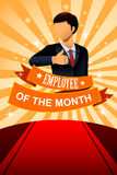 Employee of the Month Poster Frame. A vector illustration of employee of the month poster frame design Royalty Free Stock Images