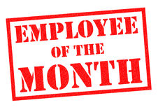 EMPLOYEE OF THE MONTH Royalty Free Stock Photo