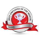 Employee of the month ribbon Royalty Free Stock Photo