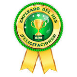 Employee of the Month Spanish language Royalty Free Stock Image