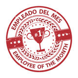 Employee of the Month Spanish language Royalty Free Stock Photo