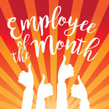 Employee of the month thumbs up burst. Employee of the month burst. EPS 10 vector Royalty Free Stock Photography