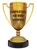 Employee of the month trophy Royalty Free Stock Images