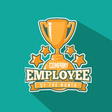 Employee of the month trophy flat design. Royalty Free Stock Image