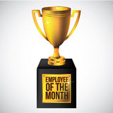 Employee of the month trophy  on white Royalty Free Stock Image