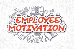 Employee Motivation - Cartoon Red Text. Business Concept. Royalty Free Stock Photography