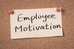 Employee Motivation. Concept on a cork board Stock Images