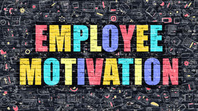 Employee Motivation Concept. Multicolor on Dark Brickwall. Royalty Free Stock Photo