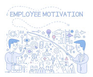 Employee Motivation Concept. Vector Infographic Royalty Free Stock Photography