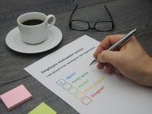 Employee motivation survey Stock Photo