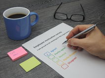 Employee motivation survey Royalty Free Stock Photography