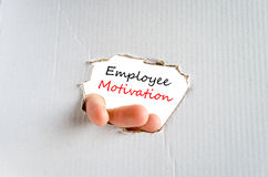 Employee motivation text concept Royalty Free Stock Images