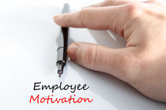 Employee motivation text concept Stock Photography