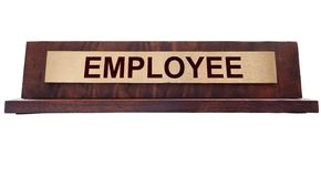 Employee name plate Stock Photos