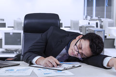 Employee naps in the office Stock Images