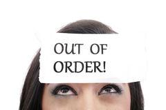 Employee out of order Stock Photo