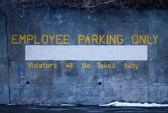 Employee parking only stock images