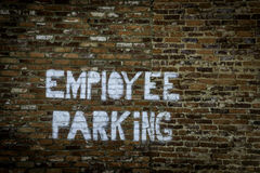 Employee Parking Sign Royalty Free Stock Images
