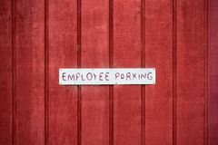 Employee Parking Sign Stock Image
