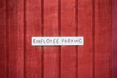 Employee Parking Sign stock image