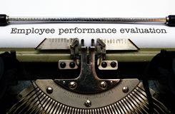 Employee performance evaluation Royalty Free Stock Photography