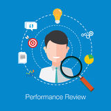 Employee performance review Stock Images