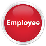 Employee premium red round button Royalty Free Stock Images