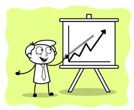 A Employee Presenting a Business Graph in Meeting. Vector Illustration Stock Photography
