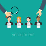 Employee recruitment. Concept vector illustration Stock Photography