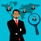 Employee, recruitment, human, resource, selection, interview, analysis. Recruitment concept in flat style Stock Images