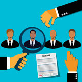 Employee, recruitment, human, resource, selection, interview, analysis. Recruitment concept in flat style Stock Photography