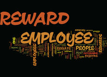 Employee Rewards Reap Results Word Cloud Concept Stock Photo