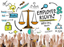 Employee Rights Employment Equality Job Hands Volunteer Concept Royalty Free Stock Image