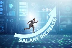 Employee in salary increase concept royalty free stock photos