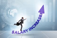 Employee in salary increase concept royalty free stock images